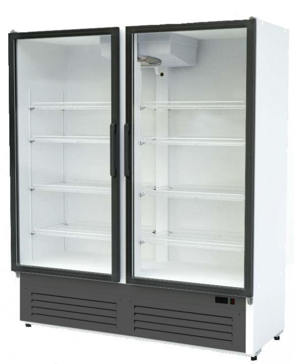 Шкаф морозильный со стеклянными дверьми  Optima crystal 14L